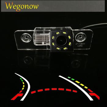 HD bezprzewodowy samochód CCD tylna kamera rybie oko 8 12 led dynamiczny noktowizor uchwyt do VW Skoda Octavia MK1 1Z Laura MK2 1996- 2015 tanie i dobre opinie SKYSHADOW Plastikowe + Szkło wireless Drutu Tył ACCESSORIES Z przodu Front Side Pojazd backup kamery Z tworzywa sztucznego