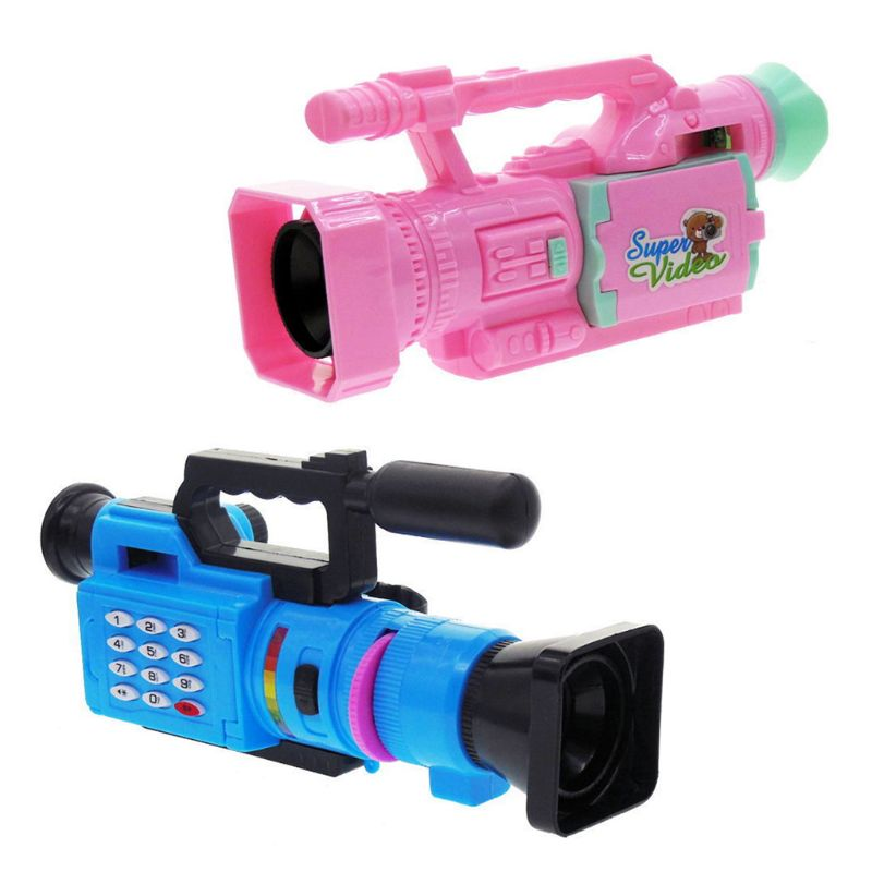 HBB 1PC Kids Electrical Toy Creative Children Music Video Projection Simulation Camera Baby Early Educational Toys Gifts