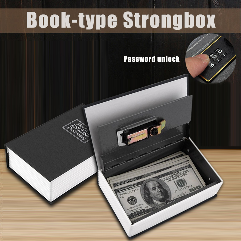 Dictionary Digital Lock Black Dictionary Secret Hidden Home Book Safe Box Popular Secret Book Money Hidden Cash Coin Storage