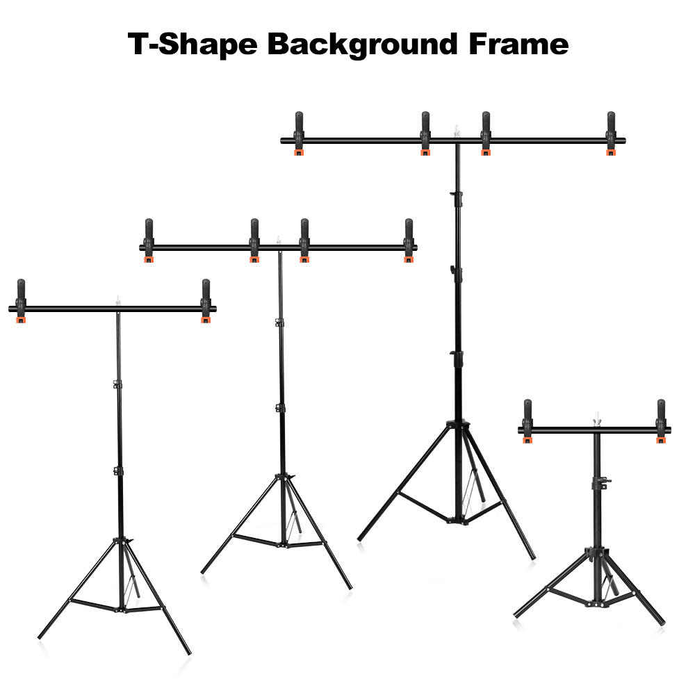 Photography Photo Studio Kit T-Shape Background Backdrop Stand Frame Props For Video Chroma Key Green Screen With Stand