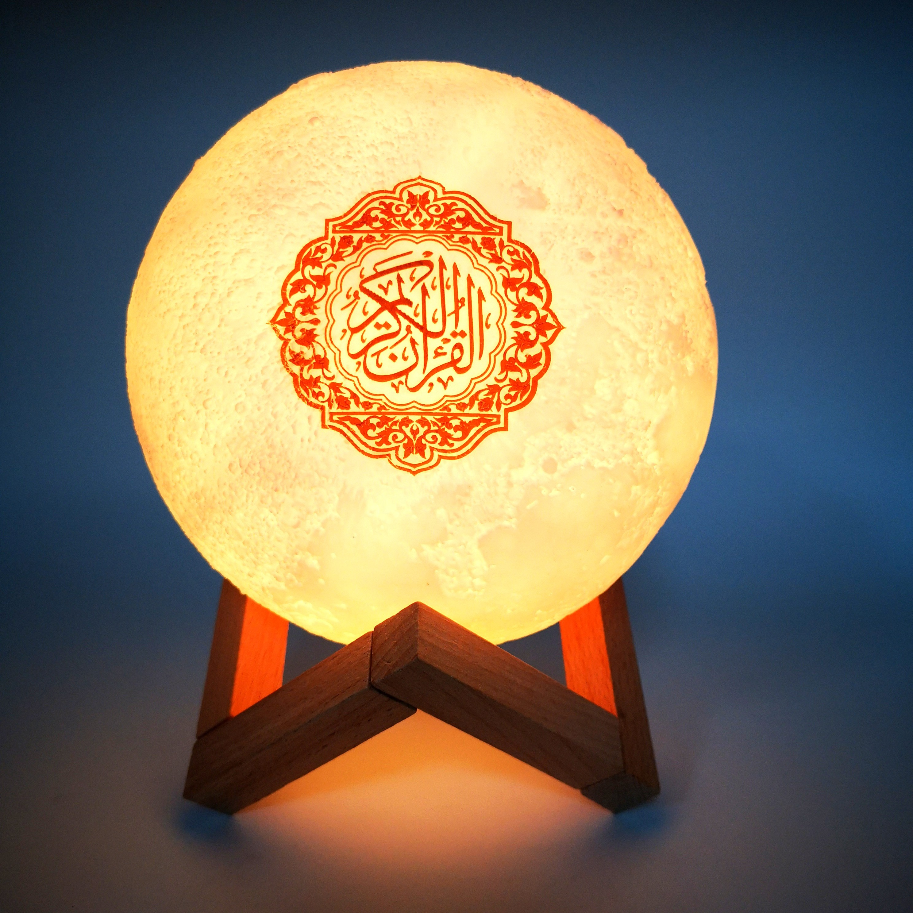 Altofalante Alcorão Touch Moon Lamp Alto-falante Bluetooth Sem Fio Muçulmano 3D Moon Night Light Controle remoto Koran Lamp Alto-falante