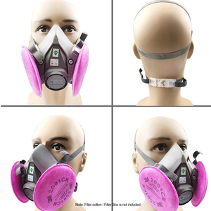 Image 4 - 3M 6200 Gas Mask Spray Paint Decoration Chemical Dust Mask Protection Toxic Steam Filter Respirator Half Mask Fit for Filters