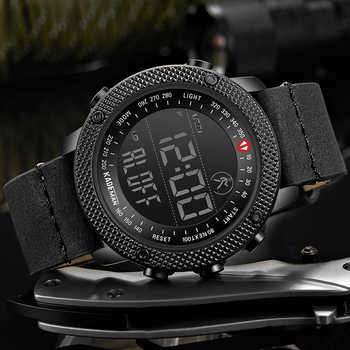 KADEMAN Top Luxury Brand Men's Sports Watch Waterproof Digital LED Military Leather Fashion Outdoor Wristwatches Relogio 6121G - DISCOUNT ITEM  51% OFF All Category