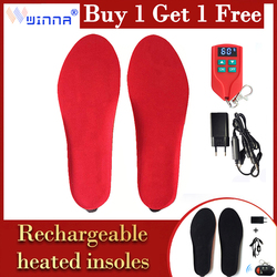 Upgraded 2000mAh Heating Insoles Breathable BK Cloth Electrically Heated Pads Foot Warmers for Women Thermal Insoles Gift 1 Pair