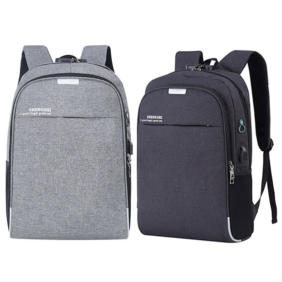 Men's Laptop Backpack Anti Theft Travel Backpack USB Charging 15.6 Inch Male Female Backpacking Student School Bags For Teenage
