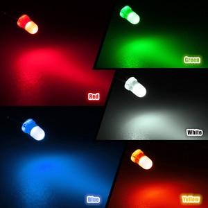 Image 5 - 100pcs LED דיודות פולטות אור ערכת 3mm 5 צבעים עגול למעלה מפוזר לבן צהוב אדום כחול ירוק מבחר ערכת DIY תאורה