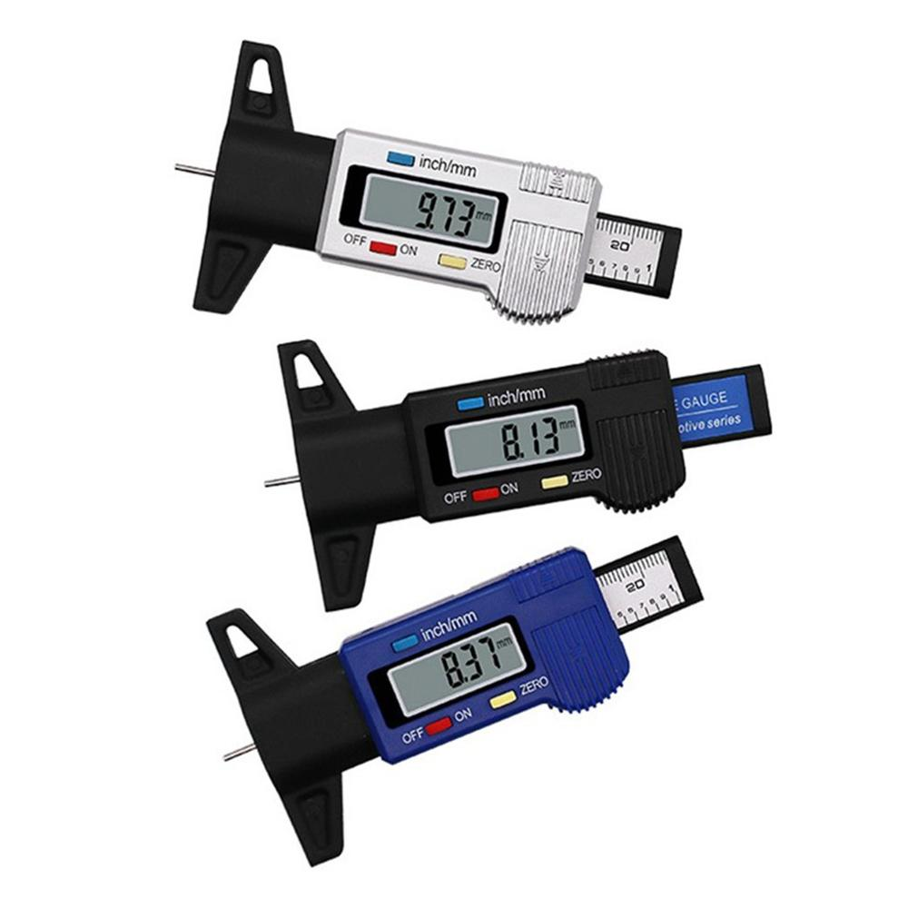 Car 0-25.4mm Digital Tyre Tire Tread Depth Tester Gauge Meter Measurer Tool Caliper LCD Display Tpms Tire Monitoring System
