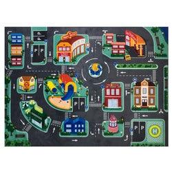 Детский светодиодный коврик для игры, коврик для ползания, детский коврик для обучения дорожному движению, игровой коврик для городской дор...