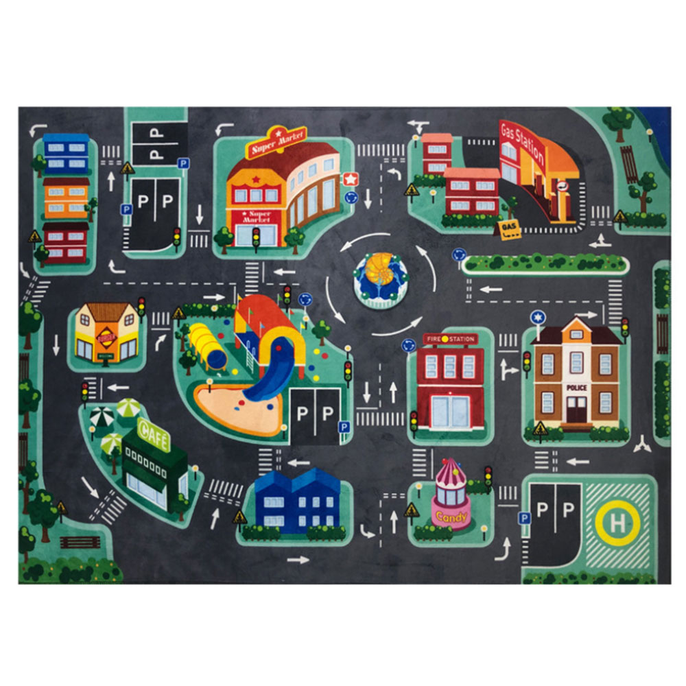 Baby LED Play Mat Crawling Pad Children's Educational Carpet Traffic Urban Road Playmat Colorful Kids Infant Non-slip Mats