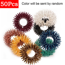 50pcs/Lot Stainless Steel Finger Massage Ring Chinese Acupuncture Ring Therapy Relax Hand Blood Circulation Pain Fatigue Relief