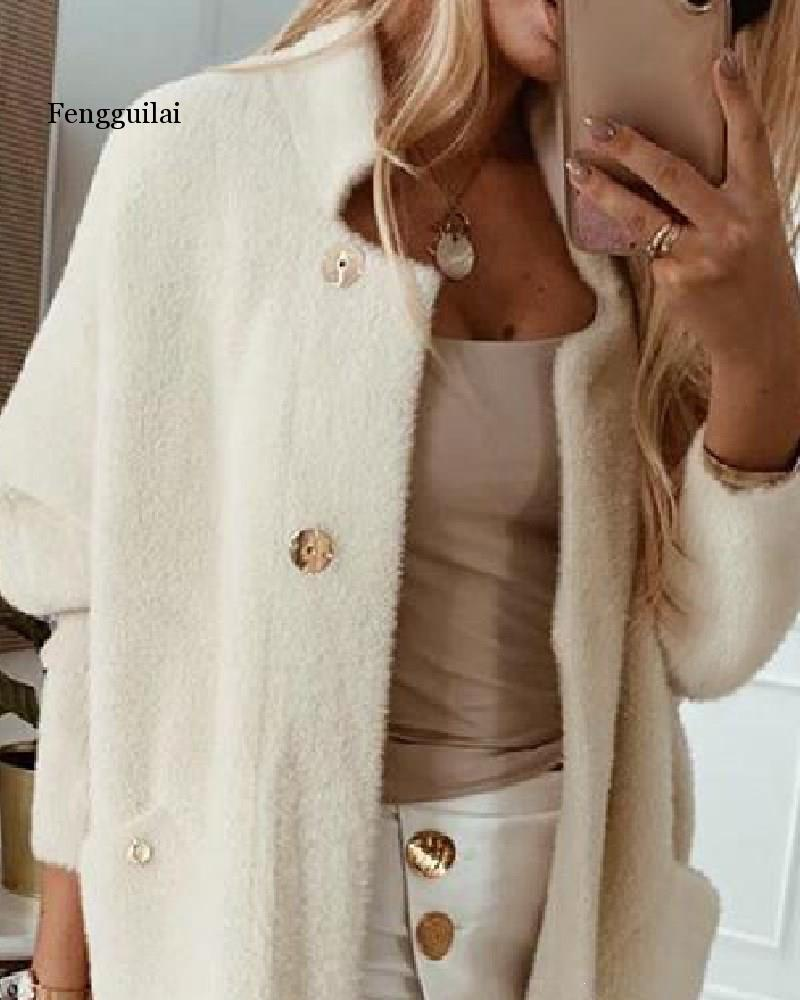 Winter Woman Coat Jacket Women Slim Long Cashmere Coats Cardigan Jackets Elegant Blend