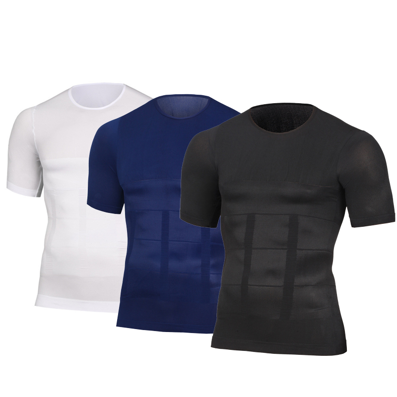T Shirt Men Slimming Shaper Posture Belly Abdomen For Corrector Compression Body Fitness Building Chest Mens Shirt Corset Tops