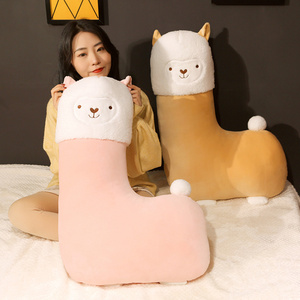 Image 3 - 45 80cm יפה אלפקה קטיפה צעצוע Vicugna Pacos יפני רך ממולא חמוד Alpacasso כבשים הלמה בעלי החיים בובות ילדים בנות מתנות