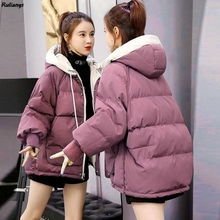Down-Padded-Jacket Korean-Version Women's Short Bread-Coat Winter New Loose Rulangs Student