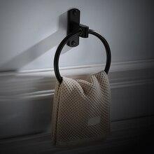 Алюминиевый Гладкий сверхмощный держатель для ванной комнаты, удобный держатель, кольцо для полотенец, Нержавеющее толстое настенное крепление, устойчивость к коррозии