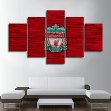 Premier League Liverpool 5 Pieces Sports Wall Art Print Flag Posters Canvas Paintings Football Pictures Home Decoration