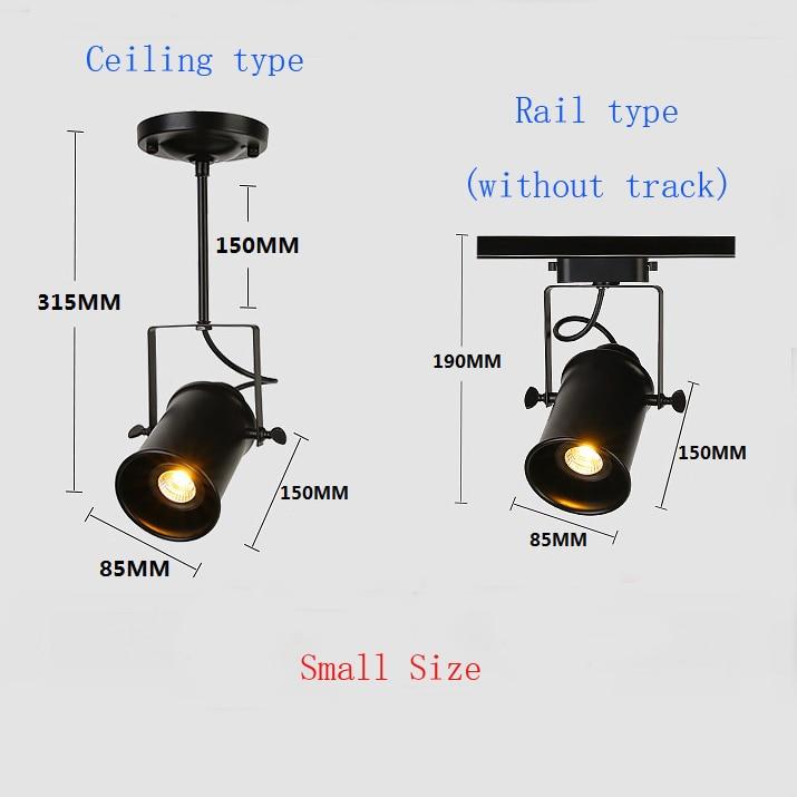 ou montagem no teto industrial spotlight ferroviário