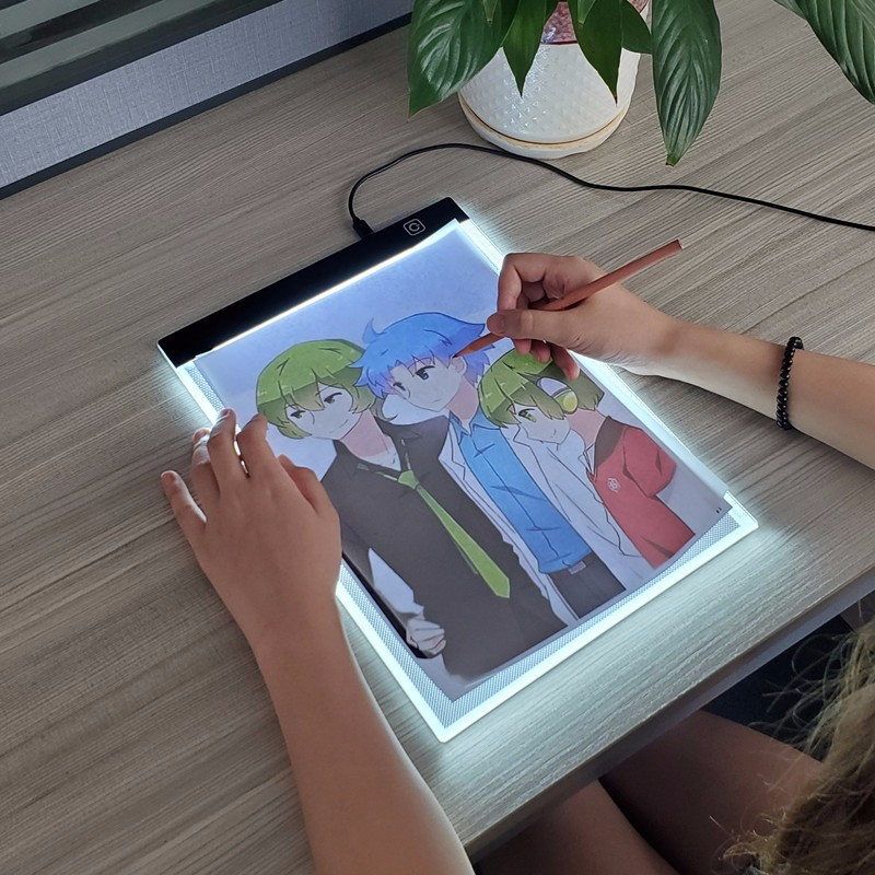 A3/a4/a5 led placa de desenho 3 nível pode ser escurecido led desenho cópia almofada crianças pintura educacional crescer playmate brinquedos criativos presentes