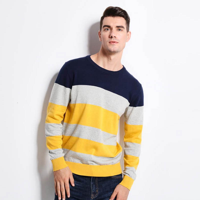 New Of Men's Winter And Autumn Winter Clothing Brand Have The Same Trend As Knitted Sweaters Of Men Wearing 100% Cotton Cloth.