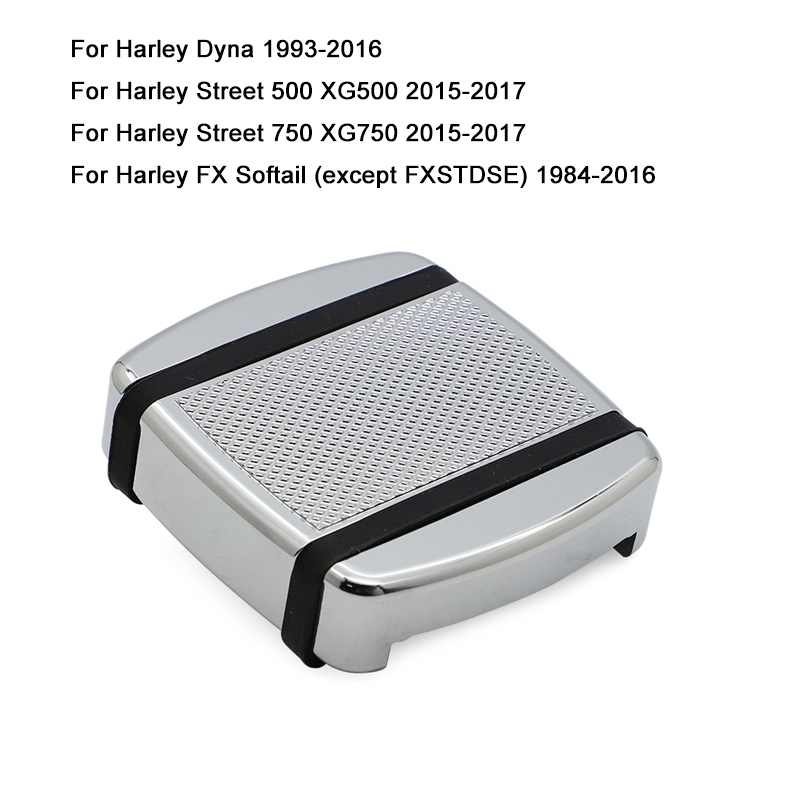 For <font><b>Harley</b></font> Dyna FXD Street 500 750 XG500 <font><b>XG750</b></font> FXST Softail 1984-2016 CNC Edge Cut Small Brake Pedal Pad Cover Footpegs Footrest image