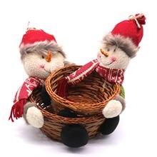 Рождественская корзина для конфет декоративная хранения в виде