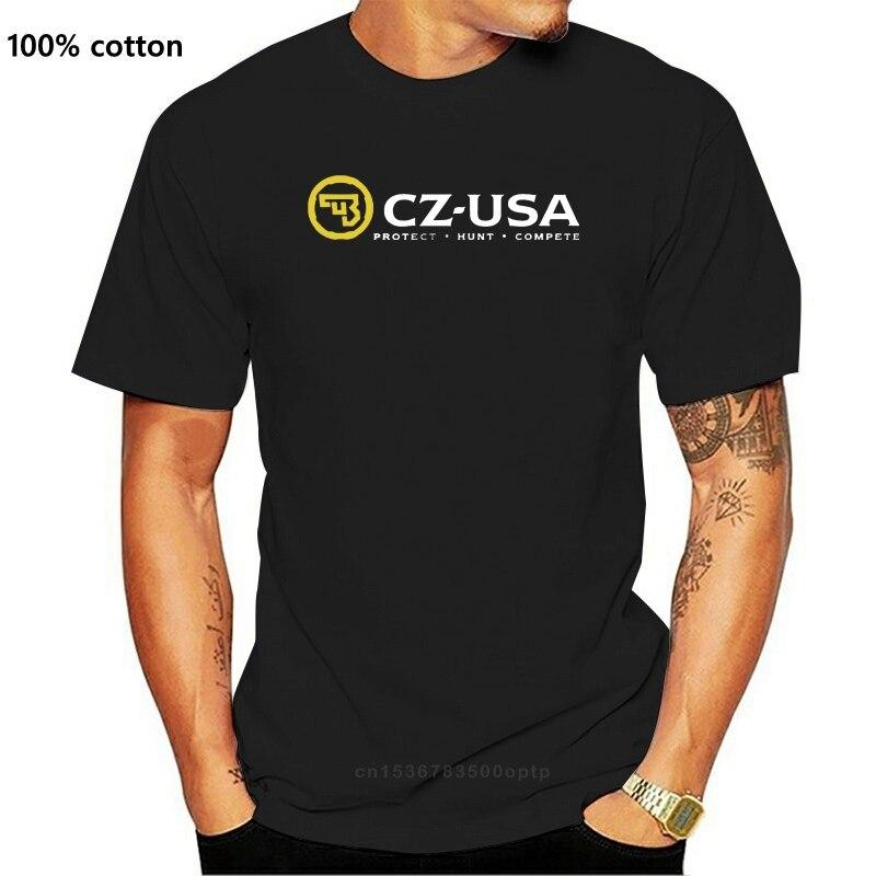 Футболка CZ USA 2 SIDE CESKA ZBROJOVKA LOGO P 09 ARM GUN Мужская черная футболка