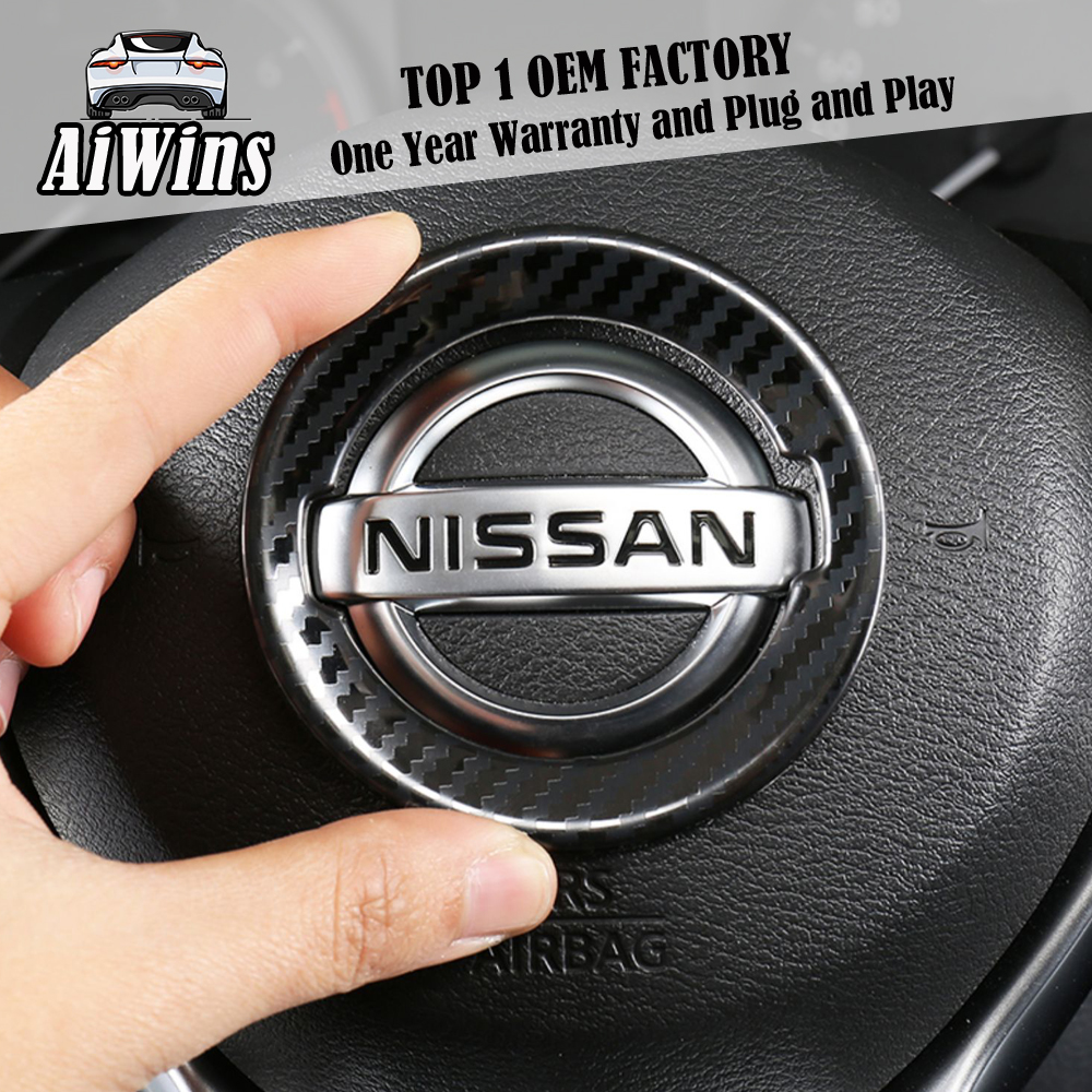 <font><b>Car</b></font> styling For Nissan 2019-2020 New Teana steering wheel <font><b>logo</b></font> steering wheel key <font><b>patch</b></font> Sequin frame decoration and modification image