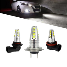 цена на 2pcs Car Fog lamp H8 H11 led 9005 hb3 9006 hb4 h4 h7 80W High Power LED 12V Auto Bulb 6000K white Daytime Running Light Bulb DRL