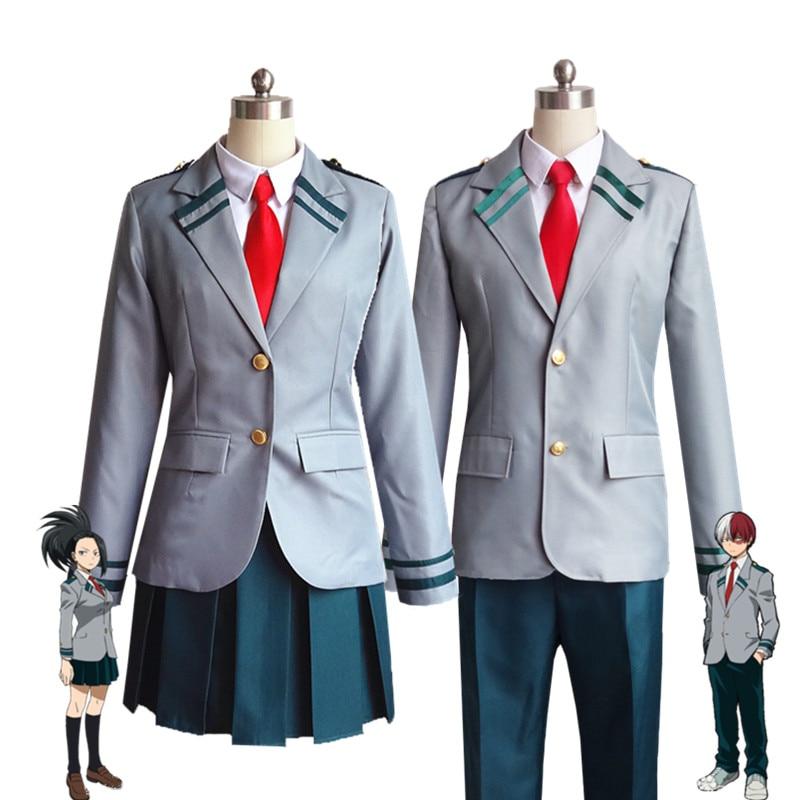 Meu herói academia cosplay traje masculino feminino uniforme escolar midoriya izuku todoroki shouto bakugo katsuki asui tsuyu ochaco urara