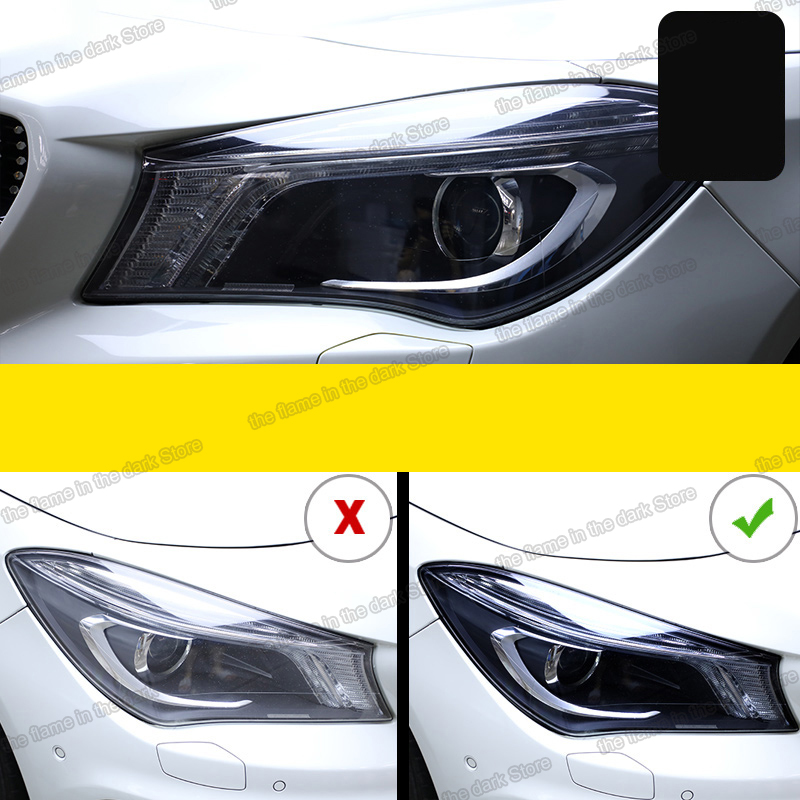 Lsrtw2017 TPU Transparent Black Car Headlight Protective Film for <font><b>Mercedes</b></font> Benz E C <font><b>S</b></font> A B <font><b>class</b></font> W205 W213 w177 <font><b>w222</b></font> cls c257 image