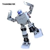 Thanksbuye 16DOF Robo Soul H3s Biped Robtic Two Legged Human Robot Aluminum Frame Kit with Helmet Head Hood only humanoid robot
