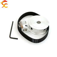 218-GT2-10mm Timing Belt Pulley GT2 60 teeth 20 tooth Bore 8&8mm Reduction 3:1/1:3 3D printer accessories belt width 10mm,
