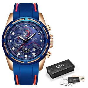 Image 5 - 2019 LIGE Mens Watches Top Brand Luxury Sport Chronograph Date Quartz Watch Men Silicone Strap Fashion Waterproof Watch Reloje