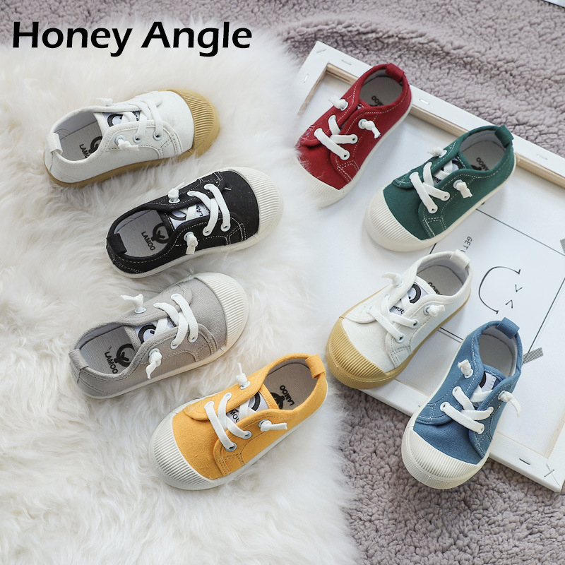 Honey Angle Summer Casual Kids Canvas Shoes For Girls Boys Cotton Non-slip Children Sneakers Toddler Baby Footwear Casual Shoes