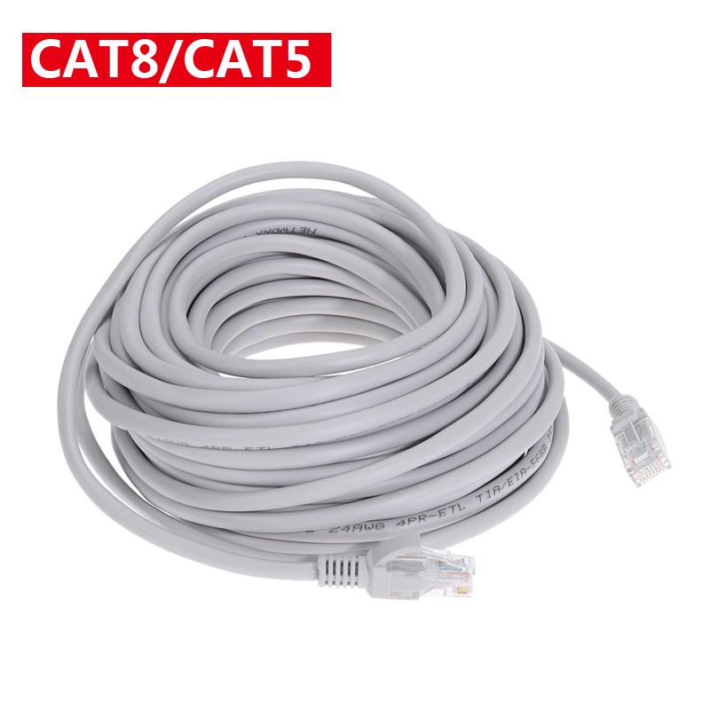 Ethernet Cable Cat8 Lan Cable RJ45 Network Cat 5 Router Internet Patch Cord For Computer 1m/3m /10m/15m/20m/25m/30m Lan Cable