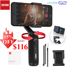 Zhiyun Smooth Q2 3-Axis Smartphone Handheld Gimbal Stabilizer, Small Pocket Size 360 Degree Rotation for Phone 11 Pro Max S10 9