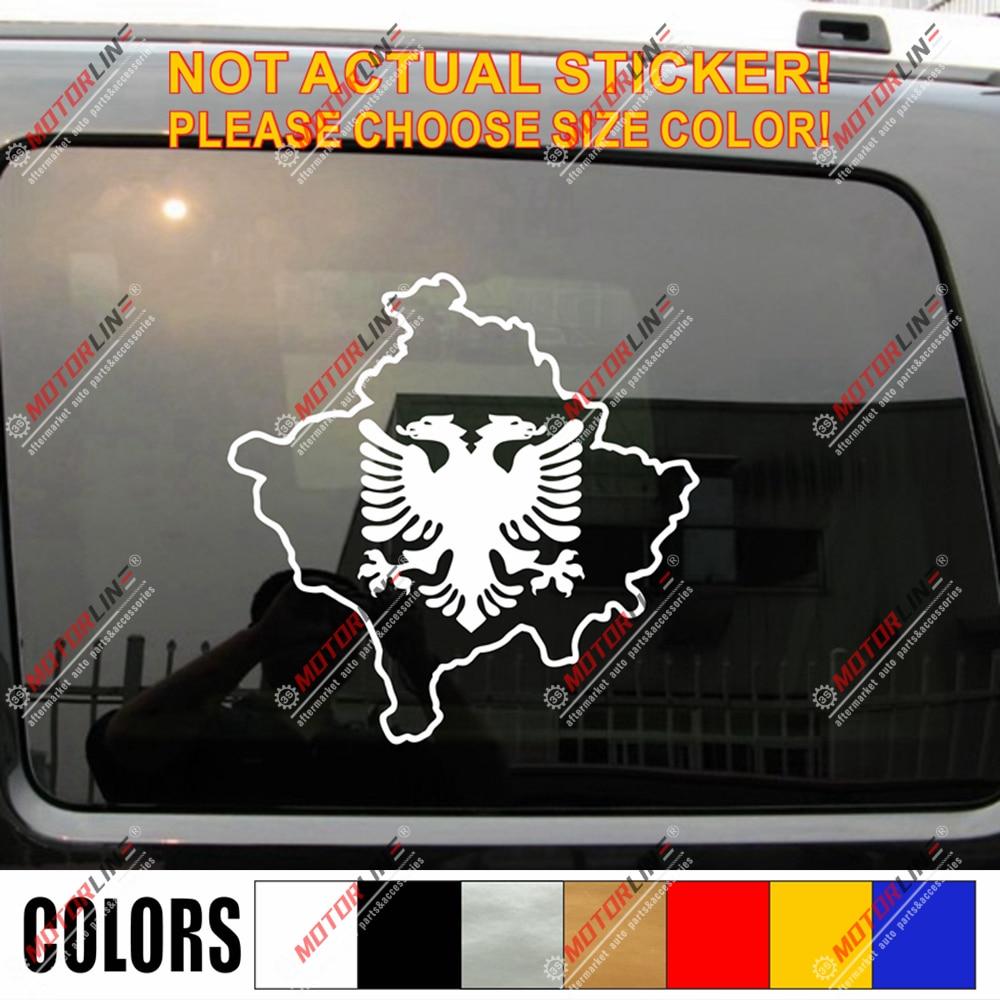 "Albania Albanian Flag car bumper sticker 5/"" x 4/"""