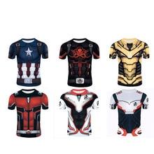 2019 New 3D Printed Short-sleeved T-shirt Marvel Avengers 4 Role-playing Quantum Warfare Annihilation US Team Hydra Short Sleeve