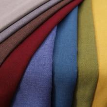 Sofa Stoff Leinen Material Polster Nähen DIY 30 Farbe Solide Plain Stoffe