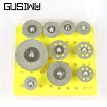 Gusiwu 10 pçs dremel disco de corte diamante 16mm 25mm 30mm 40mm escultura em madeira disco de corte para madeira pedra vidro dremel ferramenta rotativa