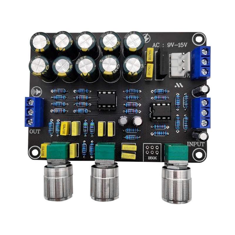Più nuovo Dual NE5532 Scheda Preamplificatore Audio Equalizzatore Preamplificazione Bassi Acuti Controllo di Tono Pre Amplificatore FAI DA TE Preamplificatore Modulo