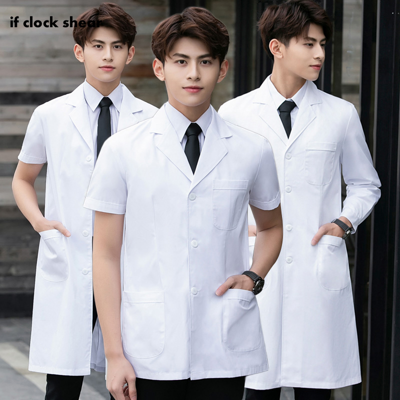 Medical Surgical Long Coats Surgery Scrubs Workwear Doctor Short/Long Sleeved Hospital Famale Doctor Operating Room White Coats