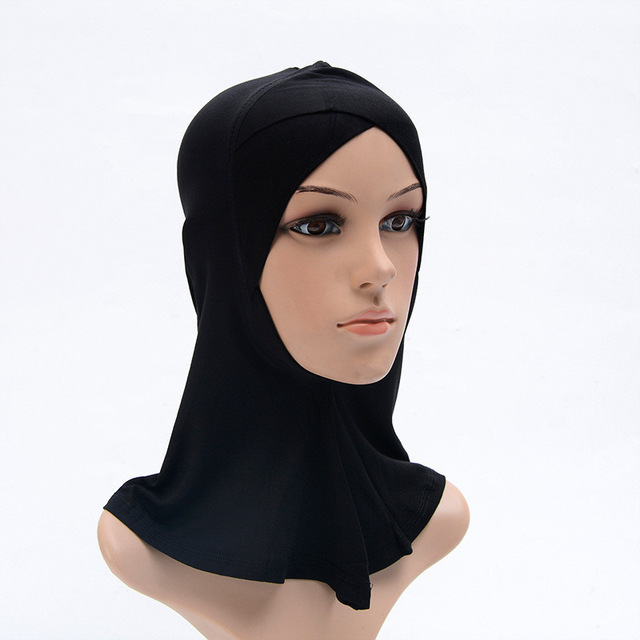 2019 Muslim stretch Turban cap Full Cover Inner Hijab Caps Islamic Underscarf Bonnet Solid Modal Under Scarf caps turbante mujer
