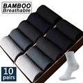 Высокое качество 10 пар/лот Солнцезащитные очки Мужские бамбуковые волокна дышащие мужские носки Компрессионные гольфы деловые повседневн...
