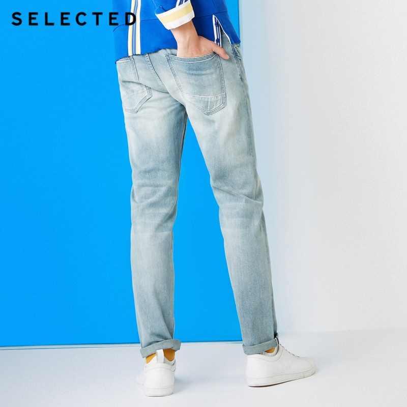 Geselecteerd Mannen Katoen-Rijke Selvaged Strakke Been Jeans S | 419132519