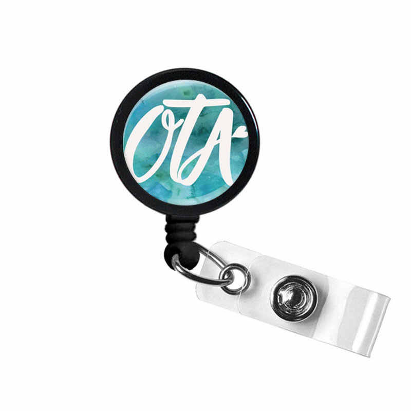 Wavy COTA Beach Occupational Therapy Therapist Assistant OT Retractable ID Badge Reel Clip