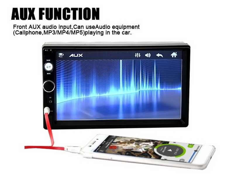 "Radyo kaset çalar 7 ""dokunmatik ekran araba radyo çalar MP5 Autoradio otomatik bantları FM/USB/TF/AUX bluetooth 4 dil ayna bağlantı"