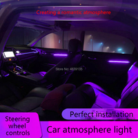 Suitable for 10th generation Civic car atmosphere light door panel decoration light 11 color LED breathing modified light
