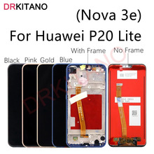 For Huawei P20 Lite LCD Display Touch Screen Digitizer Nova 3e LCD ANE LX1 LX3 L23 Screen For Huawei P20 Lite Display With Frame