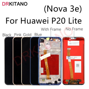 Image 1 - For Huawei P20 Lite LCD Display Touch Screen Digitizer Nova 3e LCD ANE LX1 LX3 L23 Screen For Huawei P20 Lite Display With Frame